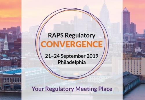 RAPS Convergence 2019, Philadelphia, 21 - 24 September