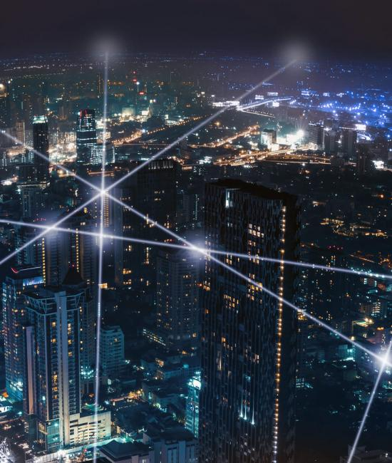 eudrac specific requirements image of city lit up at night